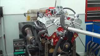 SBC 501HP 383 STROKER ENGINE DYNO RUN FOR ANVILL MANN BY WHITE PERFORMANCE AND MACHINE