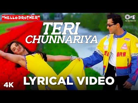 Teri Chunnariya Lyrical - Hello Brother | Salman Khan & Rani Mukerji | Himesh Reshammiya