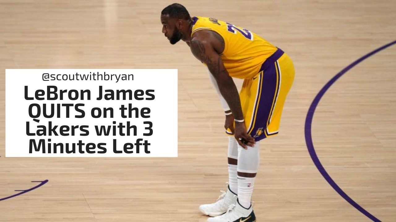 LeBron James QUITS on the Lakers with 3 Minutes Left