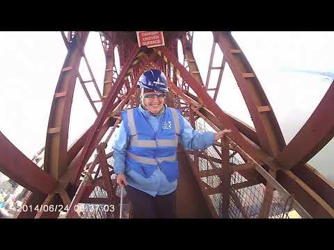 Forth Rail Abseil - Karen's eye view