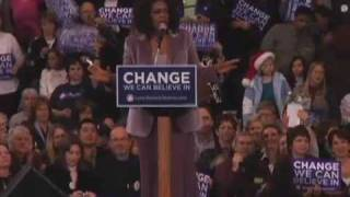 Oprah Winfrey and Barack Obama in Cedar Rapids, IA Part 1