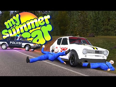 VICIOUS HIT AND RUN + POLICE CHASE! Roll Cage Stress Test - My Summer Car Gameplay Highlights Ep 38