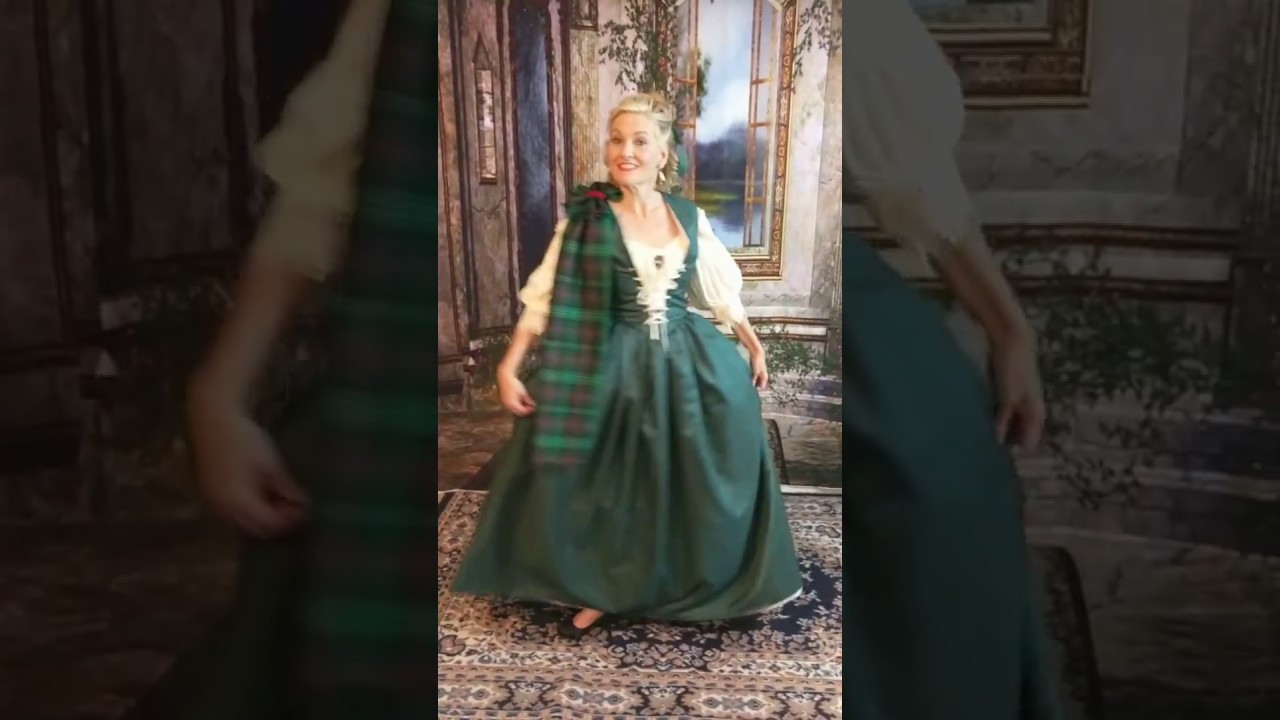 Green taffeta Scottish gown created by Victoria Vane - YouTube