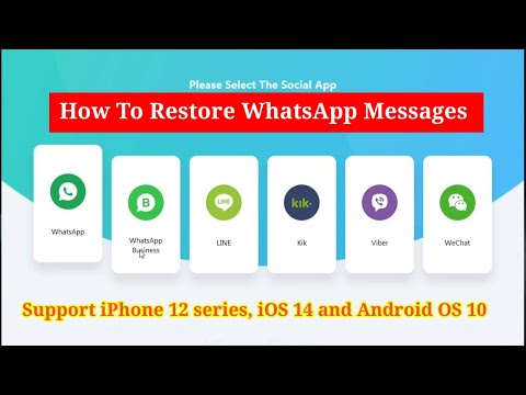 How to restoreWhatsApp messages | Support iPhone 12 series, iOS 14 and Android OS 10