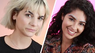 We Tried Coachella Brows For A Day