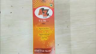 A to Z syrup review |multivitamins & multi mineral syrup |