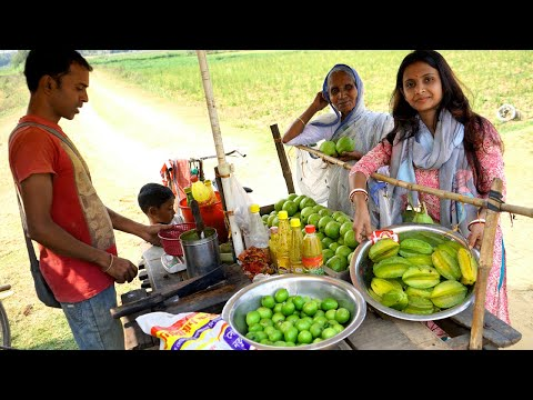 Enjoying Street Food Of Our Village With Grandmother   Villfood Vlog