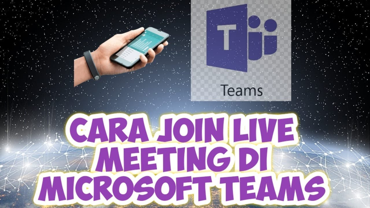 cara join live meeting microsoft teams pakai hp