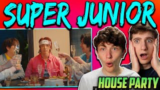 First Time Listening To SUPER JUNIOR - 'House Party' MV REACTION!!