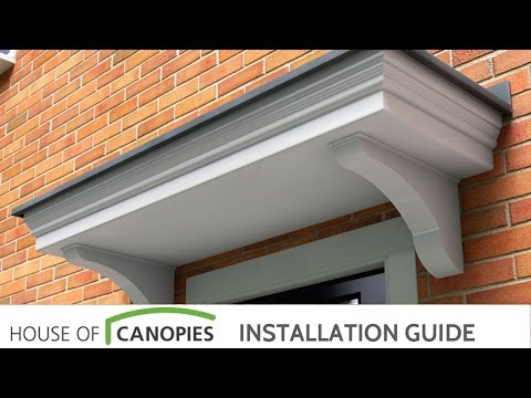 Fitting A Flat Roof Door Canopy