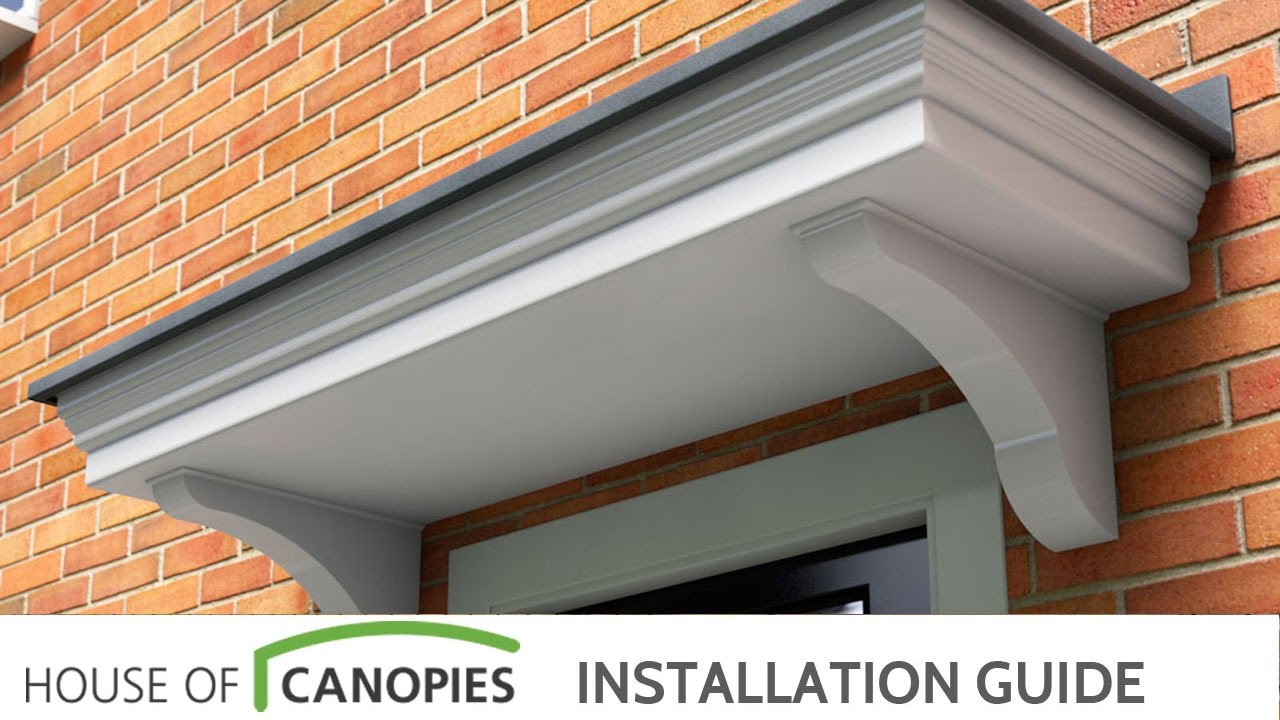 Fitting a flat roof door canopy & Fitting a flat roof door canopy - YouTube