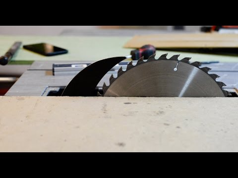 Improving Makita table saw - riving knife mod. - YouTube