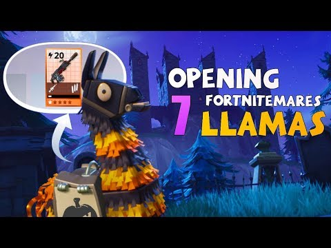 NEW Fortnitemares Llamas! Insanely Lucky! STW
