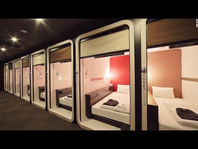 Tokyo Japan Capsule Hotel Experience!
