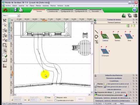diseño jardines 3d 7.0 tutorial video #3: crear y editar camino