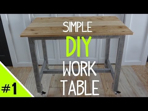 Build a Simple DIY Work Table (Frame) - 1 of 2