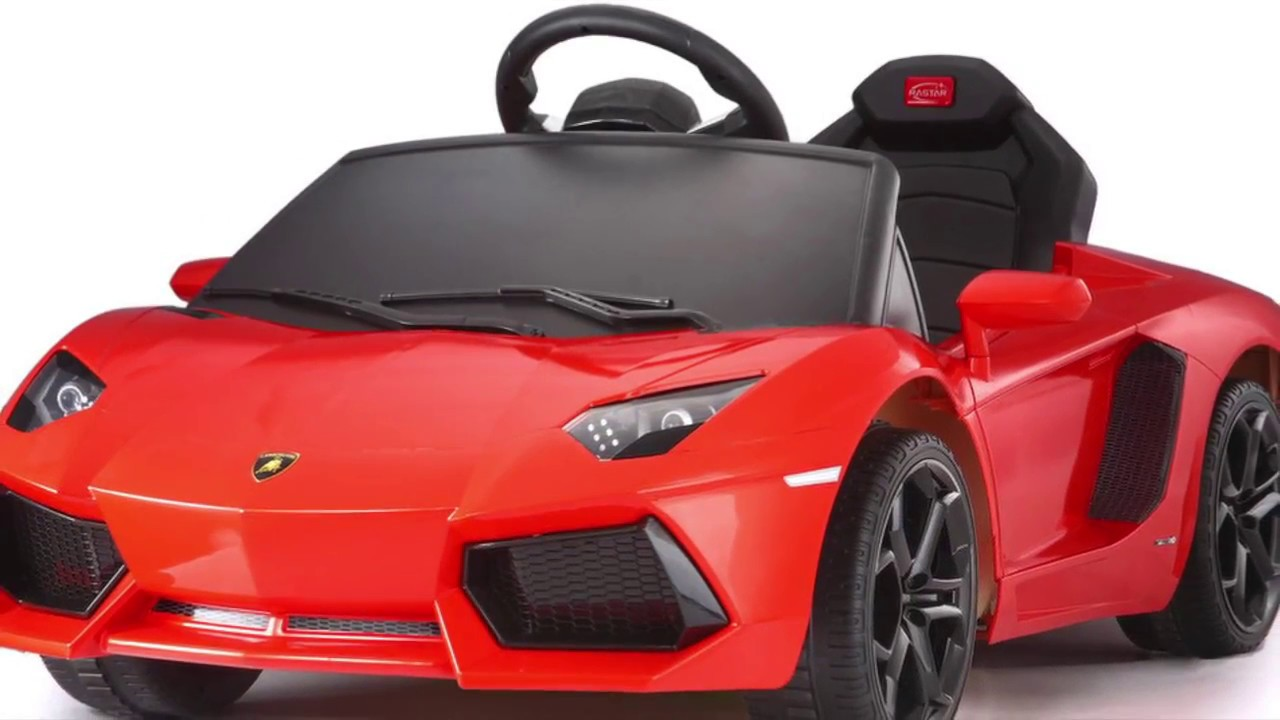 Electric Kids Cars >> Kids Licensed Lamborghini Electric Cars Youtube