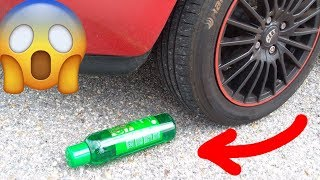 EXPERIMENT: Crushing Crunchy & Soft Things By Car! SLIME IN BOTTLE vs CAR TIRE