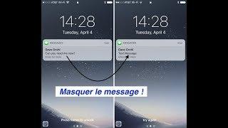 MASQUER LE CONTENU DES SMS SUR ECRAN VERROUILLER D'UN IPHONE !