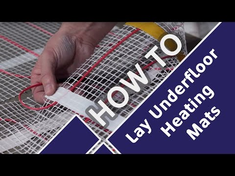How to Lay and Install Underfloor Heating Mats Prior to Tiling - Tile Mountain