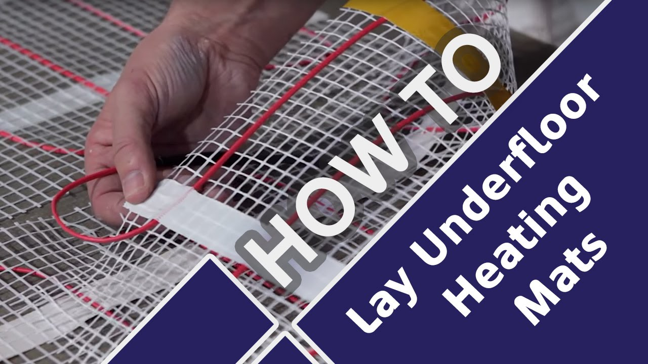 how to lay and install underfloor heating mats prior to tiling tile mountain