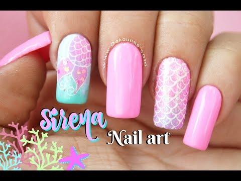 Diseño De Uñas Sirena Deko Uñas Mermaid Nail Art Youtube