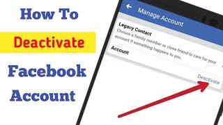 How to Deactivate Facebook Account 2019 || DEACTIVATE FACEBOOK ACCOUNT ||