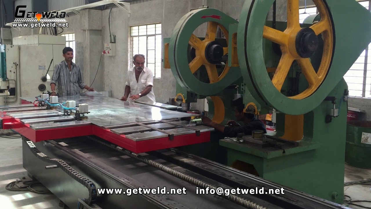 Solar water heater outer tank holes punching machine/ punch press/ meter  hole punching machine
