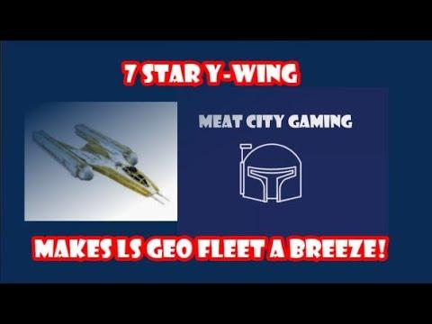SWGOH // Geo LS TB - Phase 1 Fleet Battle (with Y-Wing)