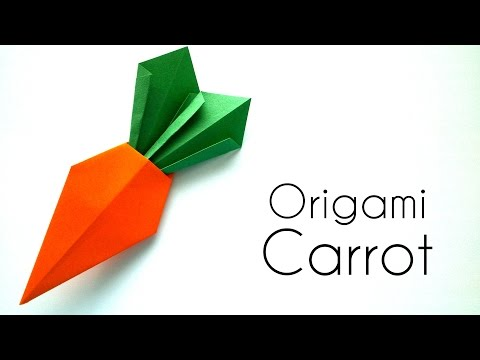Origami Carrot Tutorial