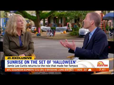 Halloween 2018 preview on Sunrise TV with Jamie Lee Curtis