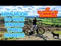 HOW MUCH DO WIDE MTB ENDURO TYRES DRAG AT LLANDEGLA'S DOWNHILLS