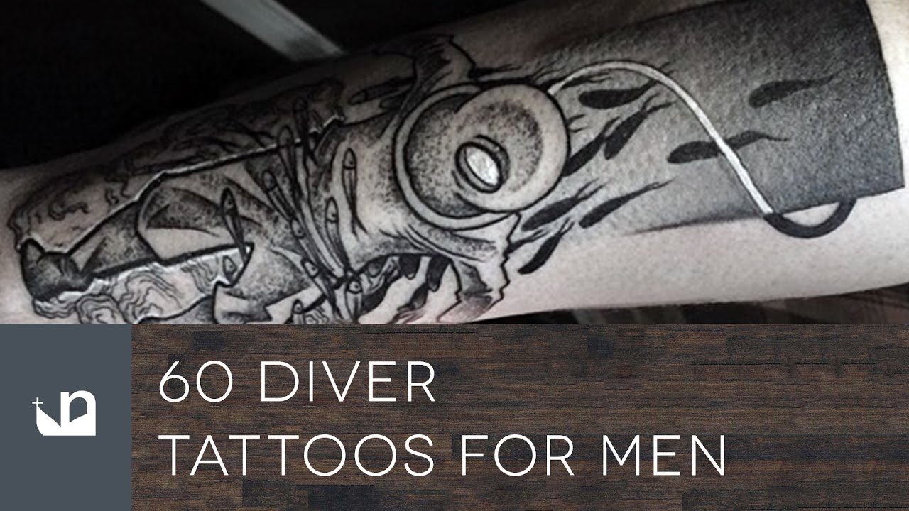 60 Diver Tattoo Designs For Men – Underwater Ink Ideas