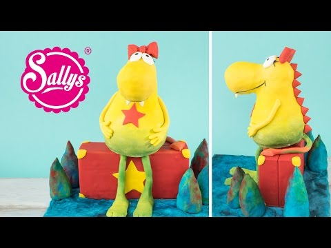 3D Motivtorte Molly Monster / Modellieren mit Rice Crispy Masse / Sallys Welt