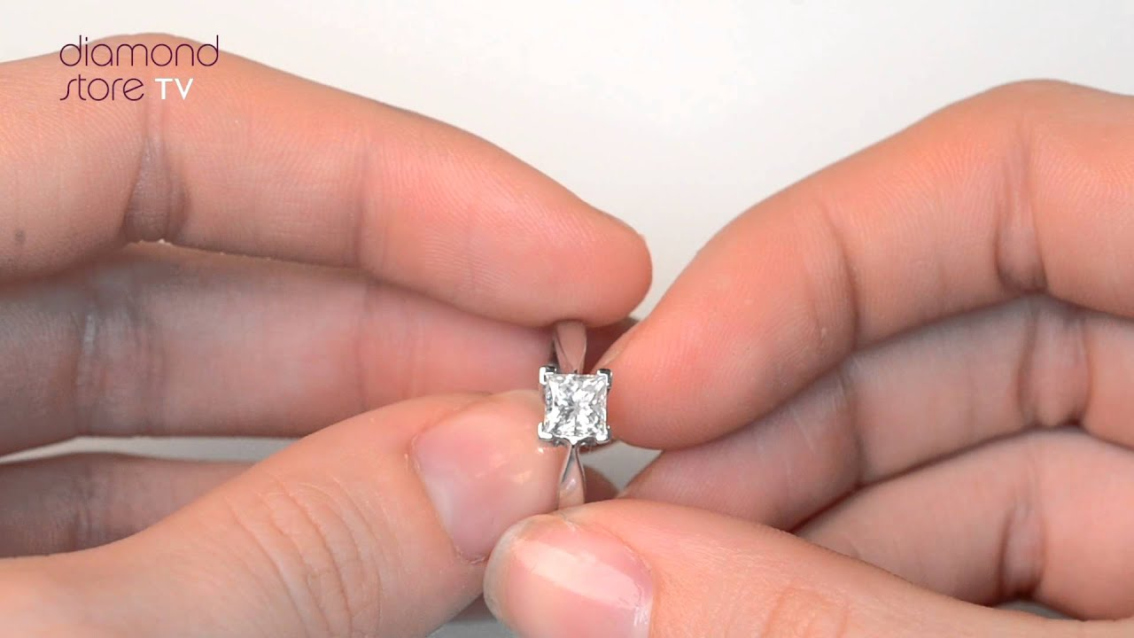 Lauren Diamond 18K White Gold 0.75ct Engagement Ring - UT21 97 - YouTube