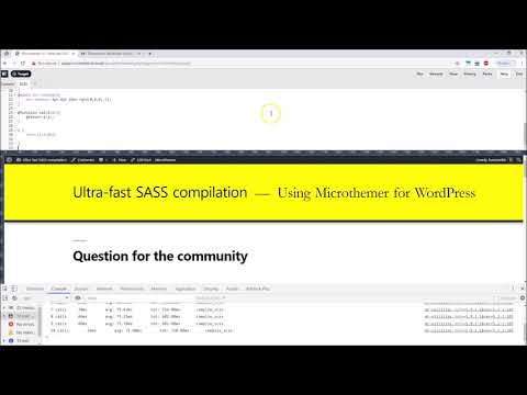 Ultra fast Sass compilation with Microthemer for WordPress
