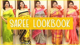 Saree LookBook For Festive Season | Indian Festival Outfit | Indian Mom on Duty