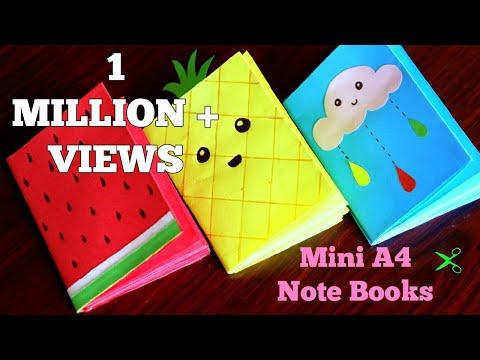 Mini A4 Notebooks (No Glue/No Stapler)