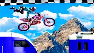 Bike Racing Games - Bike Stunts on Crazy train Mania #2 - Gameplay Android free games
