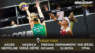 Women's Group Stage B - Session 6 | Beach Volleyball | King of the Court Utrecht 2020