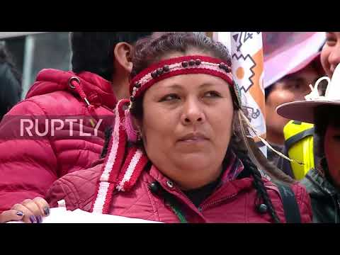 Argentina: Mapuche activists march in Buenos Aires to protect their ancestral lands