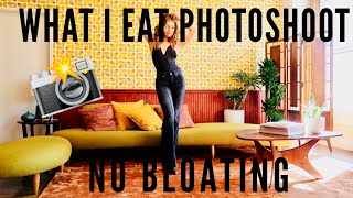 What I Eat in a Day Photoshoot + How To Not Bloat