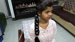 An Easy but Beautiful Self Braid hairstyle for girl's. Girl's Hairstyle/Self Hairstyle.
