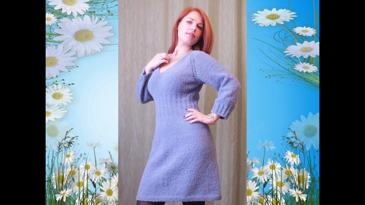Как вязать платье регланом