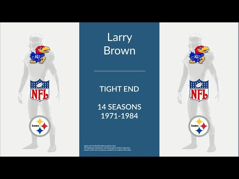 Larry Brown: Football Tight End and Tackle