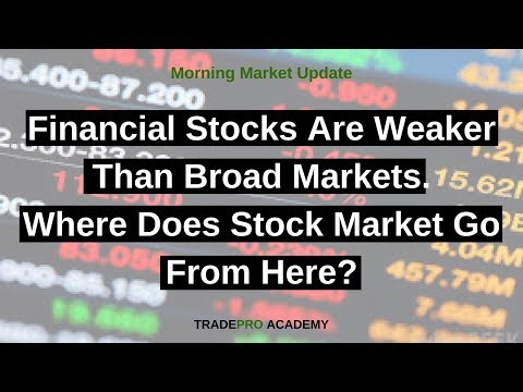 Financial stocks are weaker than broad markets, where does stock market go from here?