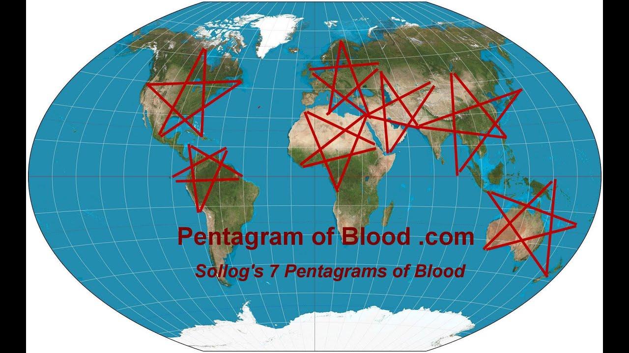 Baghdad Terrorism On Middle East Pentagram Of Blood Predicted By - Pentagram on us map