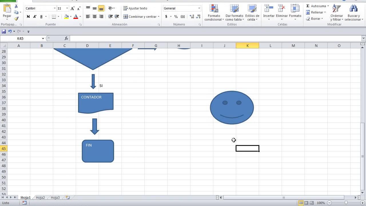 Como hacer un diagrama de flujo en excel youtube como hacer un diagrama de flujo en excel ccuart Choice Image
