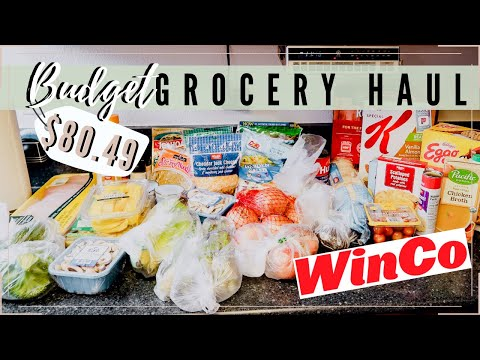 Winco BUDGET GROCERY HAUL FAMILY OF 4 With Prices l Healthy Weekly Meal Plan
