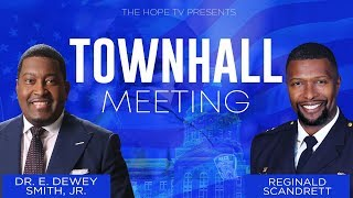 Town Hall with Dr. Smith and Reginald Scandrett